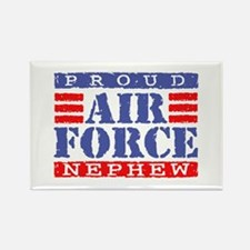 Proud Air Force Nephew Rectangle Magnet