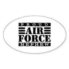 Proud Air Force Nephew Oval Decal