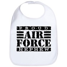 Proud Air Force Nephew Bib