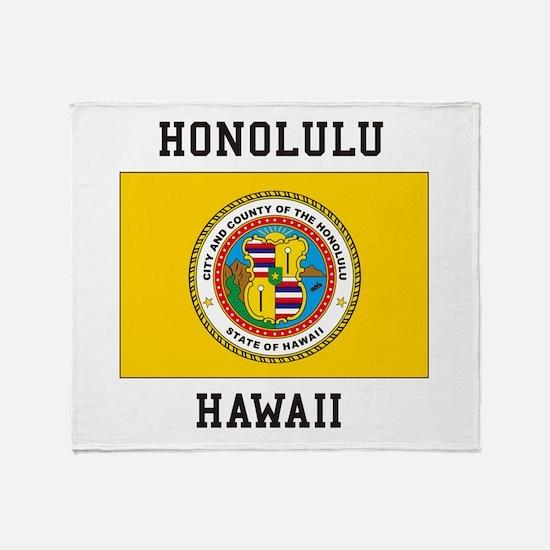 Honolulu, Hawaii Throw Blanket