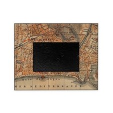 Vintage Map of Nice France (1914) Picture Frame