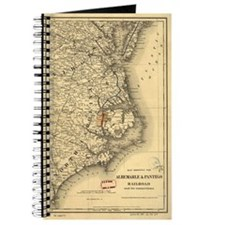 Vintage Map of The North Carolina Coast (1 Journal
