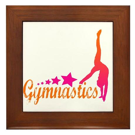 Gymnastics! Framed Tile