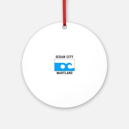 Ocean City, Maryland Ornament (Round)