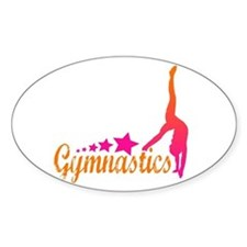 Gymnastics! Oval Decal
