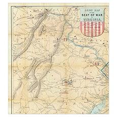 Vintage Northern Virginia Civil War Map (1862) Poster