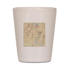 Vintage Northern Virginia Civil War Map Shot Glass