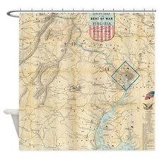 Vintage Northern Virginia Civil War Shower Curtain