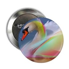 """Swan 2.25"""" Button (10 pack)"""
