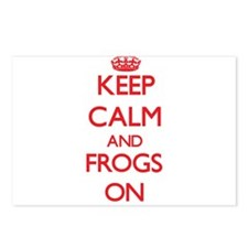 Keep Calm and Frogs ON Postcards (Package of 8)