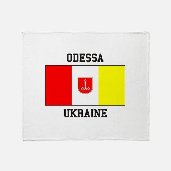 Odessa, Ukraine Flag Throw Blanket
