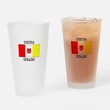 Odessa, Ukraine Flag Drinking Glass