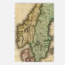 Vintage Map of Norway and Postcards (Package of 8)