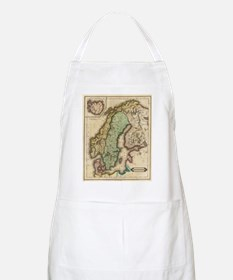 Vintage Map of Norway and Sweden (1831) Apron