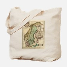 Vintage Map of Norway and Sweden (1831) Tote Bag