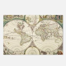 Vintage Map of The World  Postcards (Package of 8)
