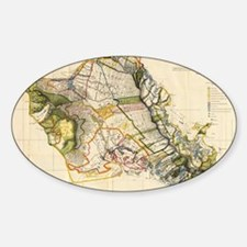 Vintage Map of Oahu Hawaii (1906) Decal