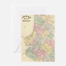 Vintage Map of Oakland California (1 Greeting Card
