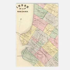 Vintage Map of Oakland Ca Postcards (Package of 8)