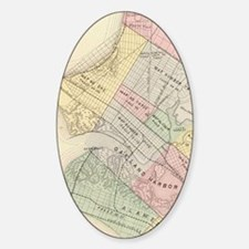 Vintage Map of Oakland California ( Sticker (Oval)