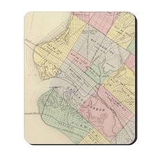 Vintage Map of Oakland California (1878) Mousepad