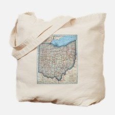 Vintage Map of Ohio (1921)  Tote Bag