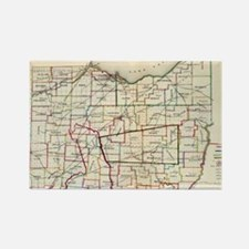 Vintage Map of Ohio (1866) Rectangle Magnet