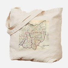 Vintage Map of Ohio (1866) Tote Bag