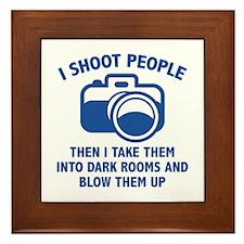 I Shoot People Framed Tile