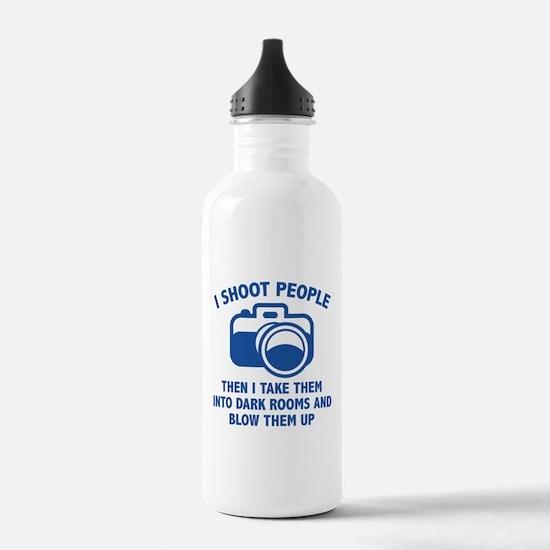 I Shoot People Water Bottle