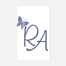 Butterfly Blue RA Rectangle Decal