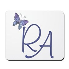 Butterfly Blue RA Mousepad