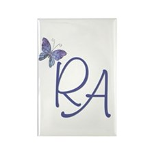 Butterfly Blue RA Rectangle Magnet