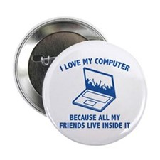 """I Love My Computer 2.25"""" Button (10 pack)"""