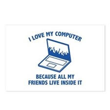 I Love My Computer Postcards (Package of 8)