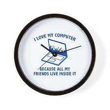 I Love My Computer Wall Clock