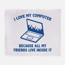 I Love My Computer Stadium Blanket