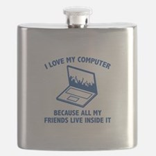 I Love My Computer Flask