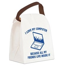 I Love My Computer Canvas Lunch Bag