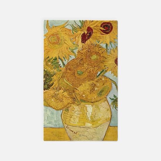 Van gogh Sunflowers Area Rug