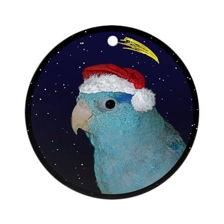 Christmas Night Blue Parrotlet Christmas Ornament