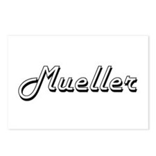 Mueller surname classic d Postcards (Package of 8)