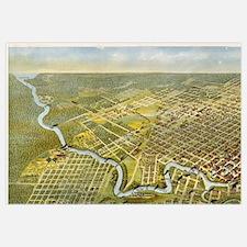 Vintage Map of Houston Texas (1891)