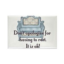 Don't Apologize Rectangle Magnet