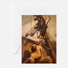 One more step Mr. Hands - N.C. Wyeth Greeting Card