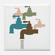 Faucet Conserve Tile Coaster