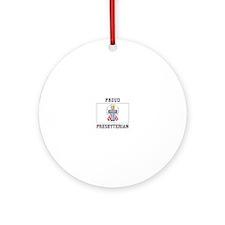 Presbyterian Flag Ornament (Round)