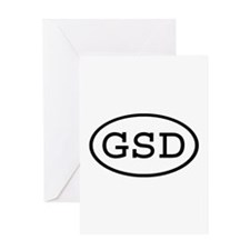 GSD Oval Greeting Card