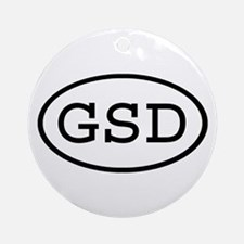 GSD Oval Ornament (Round)