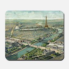 Vintage Pictorial Map of Paris (1900) Mousepad